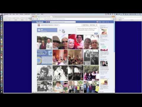 Uploading Photos to Facebook - Creating Photo Albums