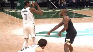 Kevin Durant teaches PJ Tucker his moves 👀 Bucks vs Nets Game 6