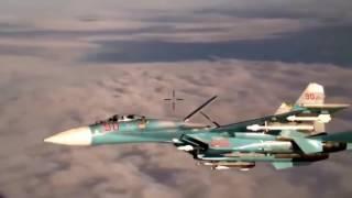 Су-27 идёт на перехват. Видео из кабины самолёта НАТО.