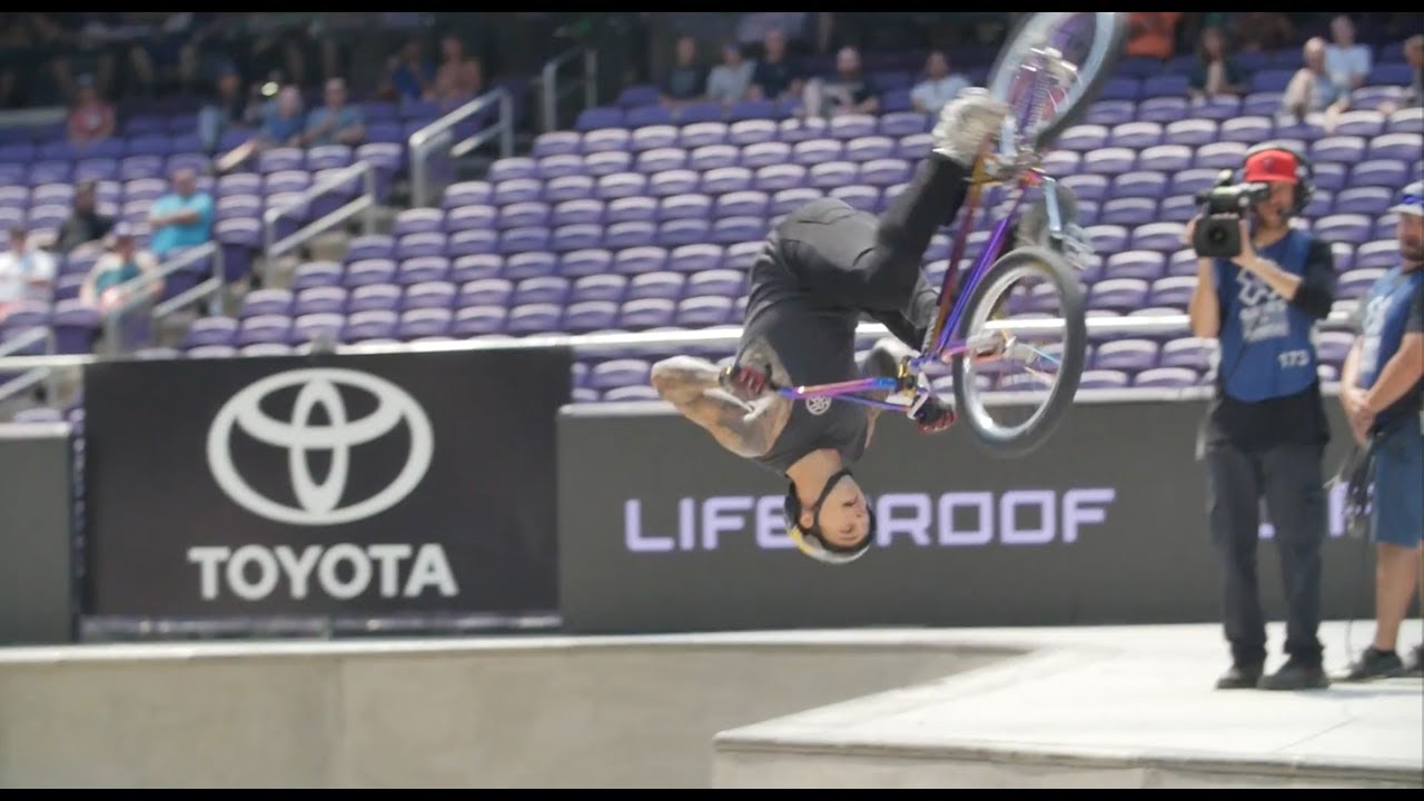 X Games 2017 Logan Martin S Silver Medal Winning Bmx Park Run