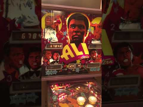 Muhammad Ali Original Vintage Pinball Machine For Sale