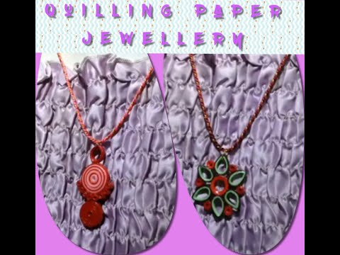 2 easy quilling paper jewellery