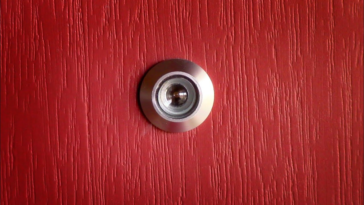 How to install a door viewer peep hole youtube for Door eye hole