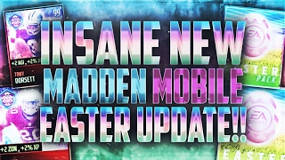MILLIONS IN MADDEN MOBILE EASTER PACKS!! HOW TO GET A FREE EASTER LEGEND AND NEW PROMO REVIEW!