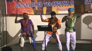 Part 17 :Rela Re Ravi,Sivanagulu and Janardhan singing Folk songs at DATA Celebrations