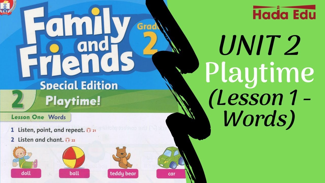 Family and Friends 2 special edition| Unit 2: Playtime| Lesson 1: Words