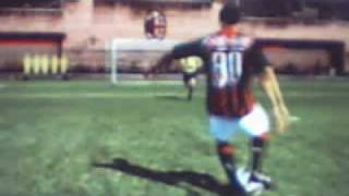 jogando Fifa 09 - ps3