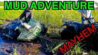 ATV Mud Adventures With Ricky-Bobby, Goldilocks And The 3 Bears! - FULL VIDEO - Sept 2 2013