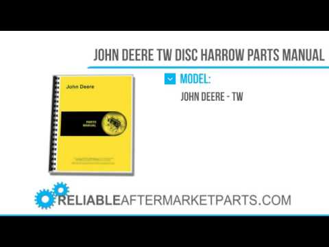 3286 New John Deere Tw Disc Harrow Parts Manual Youtube