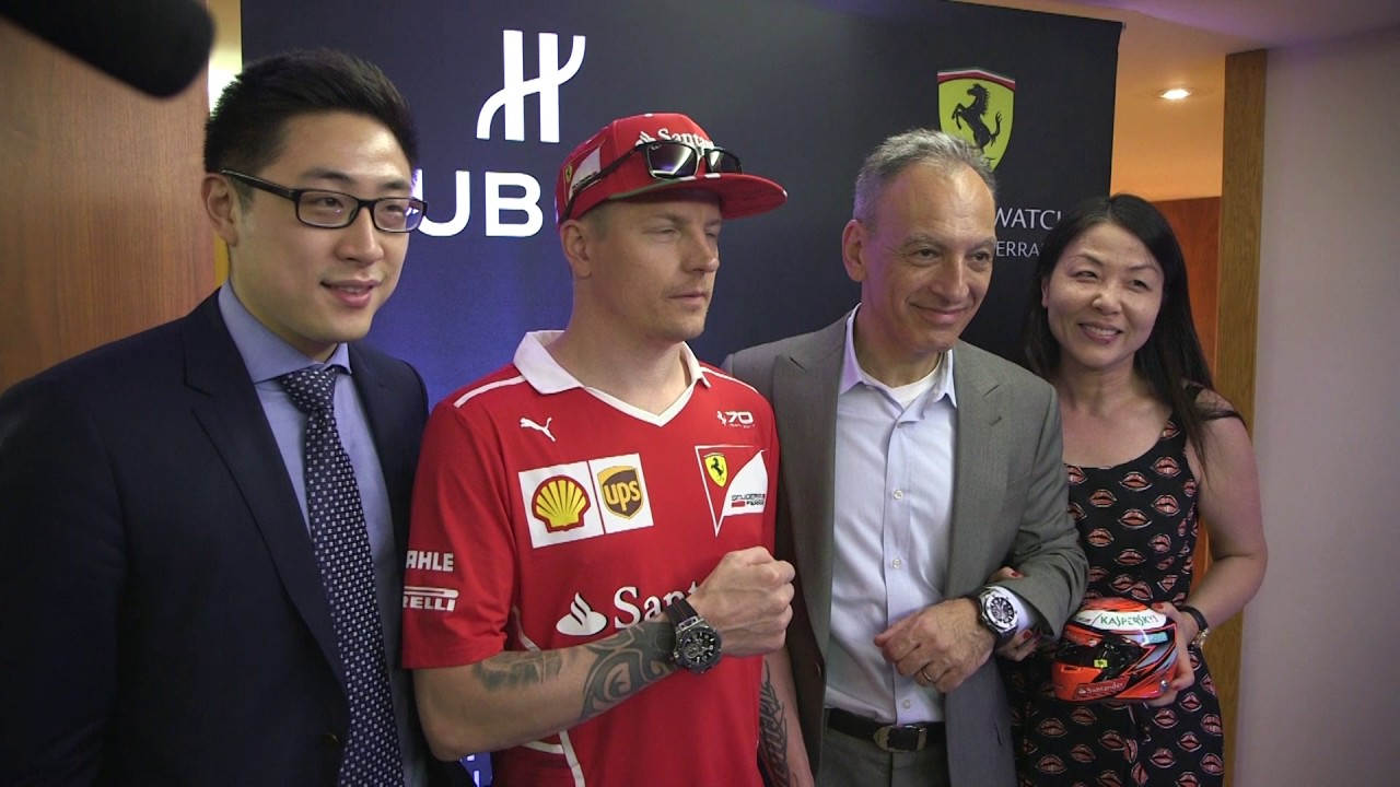 HUBLOT WELCOMES KIMI RÄIKKÖNEN IN MONTREAL