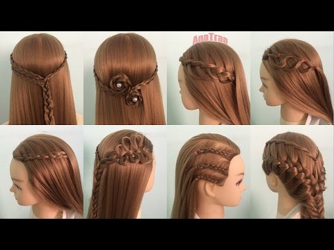 Peinados Faciles Y Rapidos Y Bonitos Semirecogidos Con Trenzas