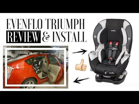 EVENFLO TRIUMPH REVIEW w/ Easy Rear-Facing Installation | Best Budget Convertible Car Seat?