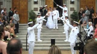 Navy Wedding Arch of Swords - Nick & Melanie Sword Arch