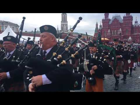 Scotland the brave at the Red Square, Moscow, Russia. 2017