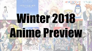 2018 Winter Anime Preview Guide