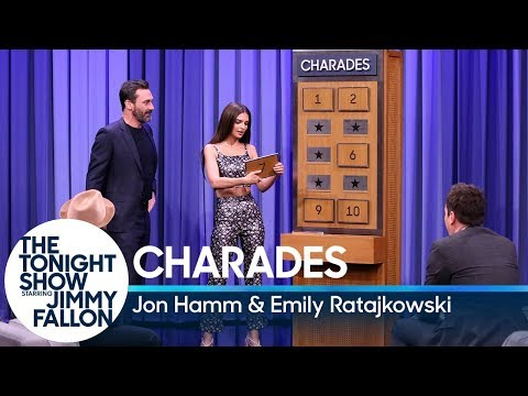 Charades with Jon Hamm and Emily Ratajkowski