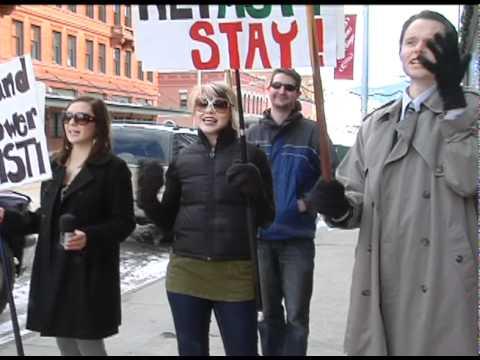 MSTI Powerline Protest