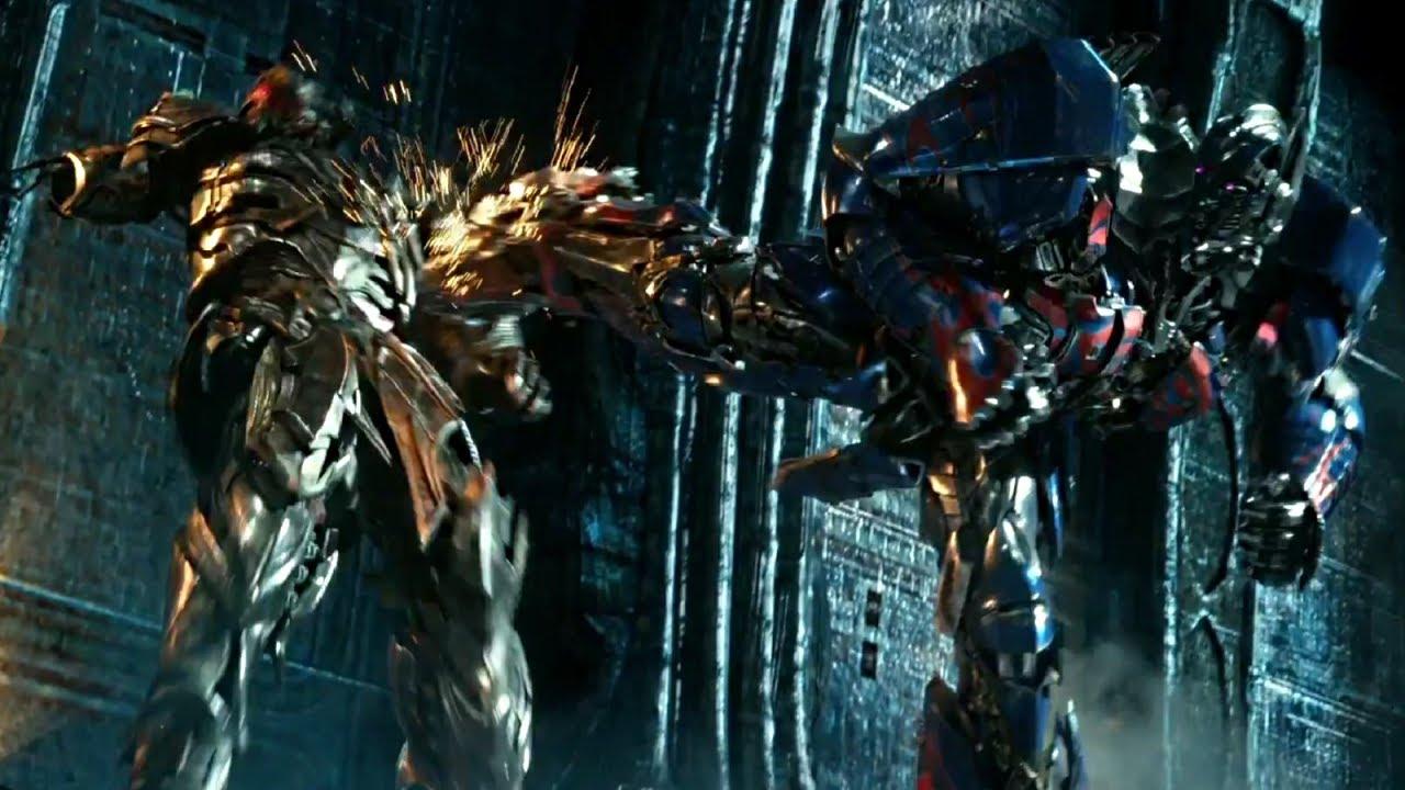 transformers the last knight optimus prime vs megatron