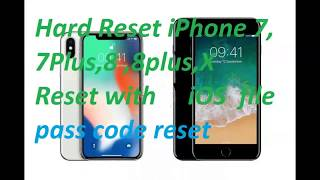 iphone 7,iphone 7 plus  Reset & Restore. Apple iPhone 7 - Factory Reset 2018