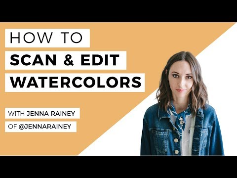 How To Scan & Edit Your Watercolour Artwork- A Step By Step Lesson With Jenna Rainey