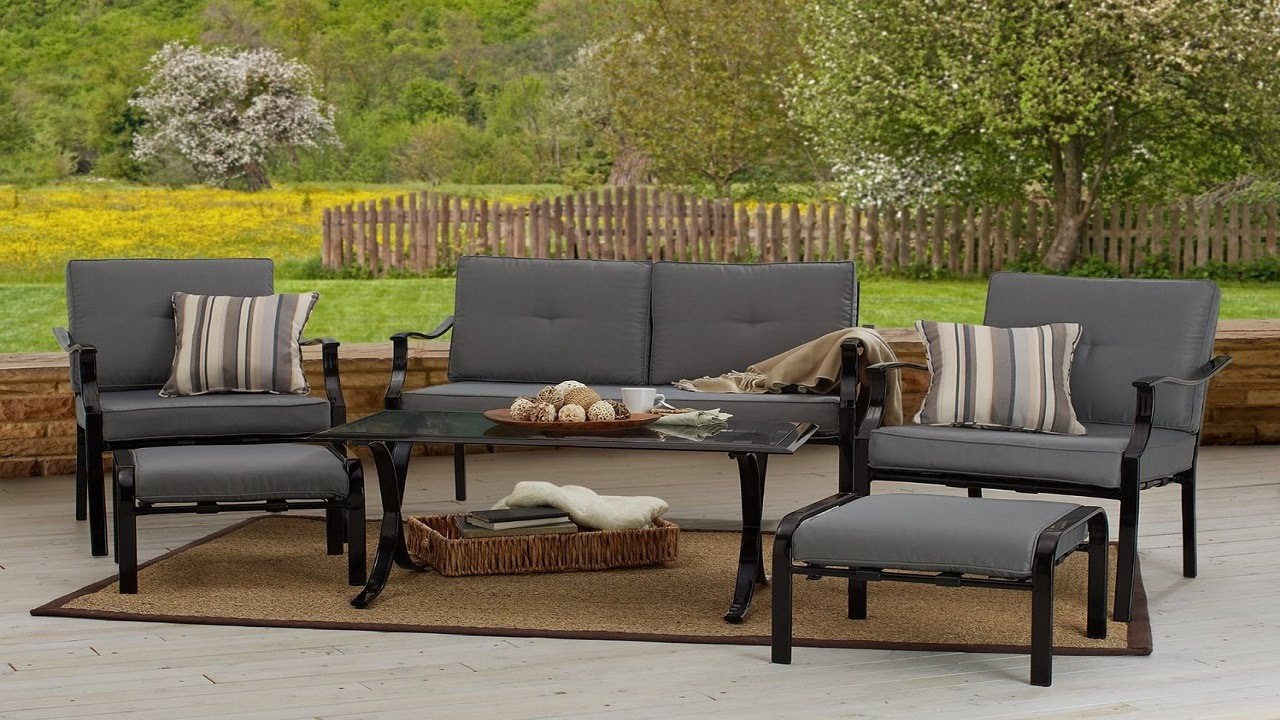 Outdoor furniture strathwood 6 piece all weather furniture outdoor patio furniture sets youtube