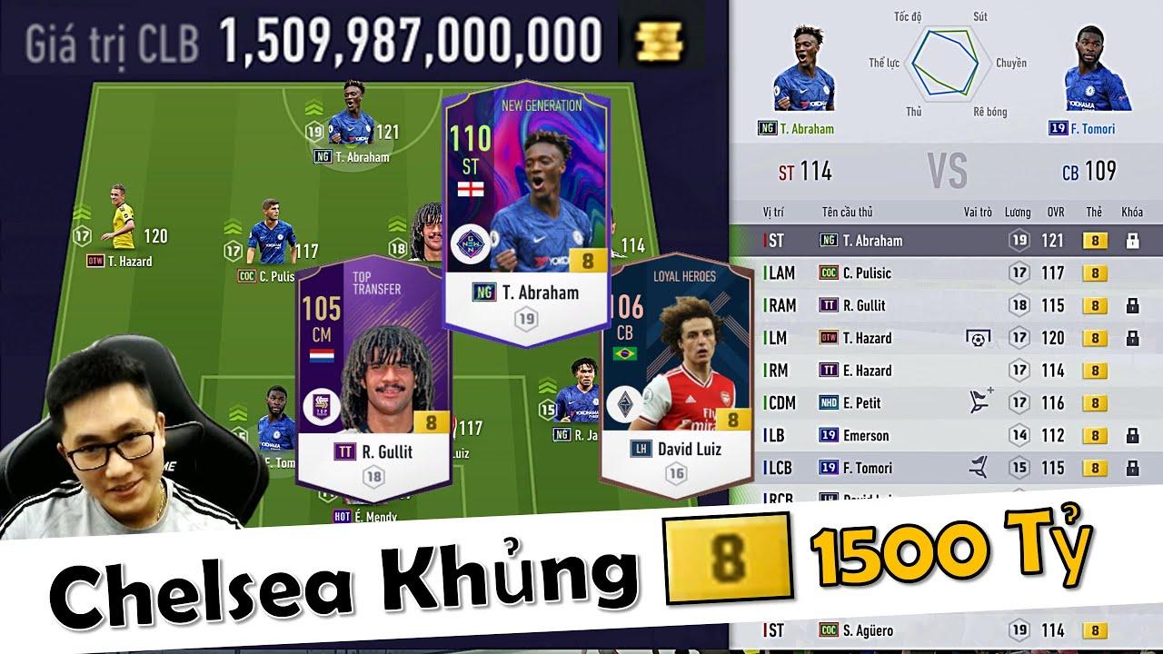 FIFA Online 4 | I Love Trải Nghiệm Đội Hình 1500 TỶ Với Team Color CHELSEA +8 Cực Khủng Top SERVER