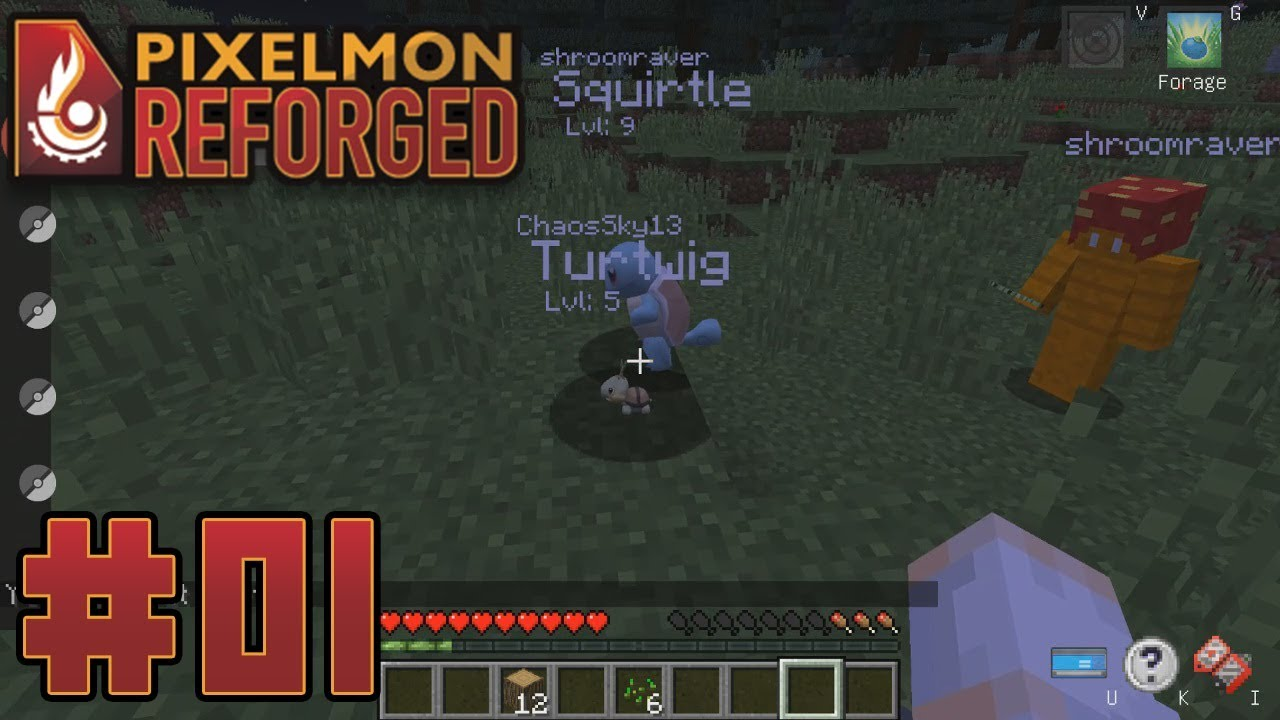Pixelmon 7 0 3 Playthrough with Chaos & Friends part 1: The Pygmy Turtwig