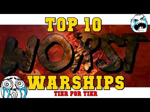 TOP 10 Worst SHIPS In World Of Warships - By Winrate ;-)