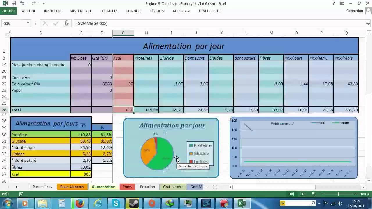 Gut bekannt Démo Fichier excel spécial regime (Francky 2014) - YouTube JQ31