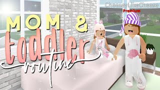 TODDLER AND MOMMY ROUTINE ROLEPLAY | BLOXBURG