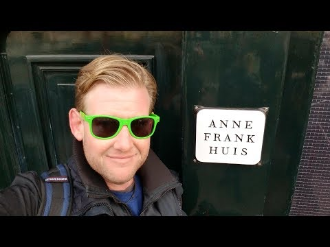 AMSTERDAM - ANNE FRANK HOUSE & City Exploration - Daze With Jordan The Lion #484 (12/3/2017)