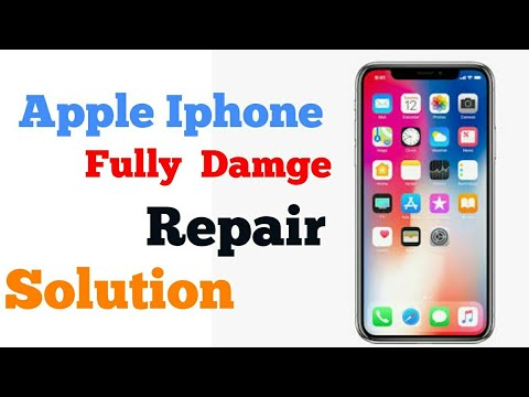 How To Repair a accidental damage apple iphone by NG
