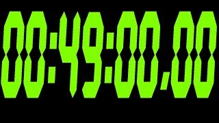 #318 49 Minute Stopwatch with black bacground and green digits 720p