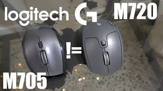 True Successor - Logitech M720 Triathlon compared to M705 - Mouse Review