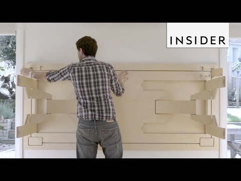Table Folds into Wall to Save Space