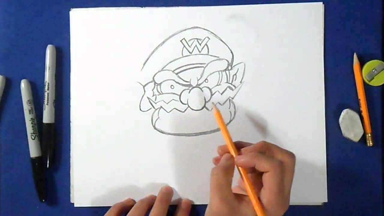 Comment dessiner wario wie zeichnet wario mario bros youtube - Comment dessiner peach ...