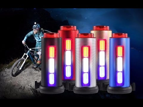 2016 Newest 7 Mode Rechargeable Tail USB bike light Power by 18650 Battery