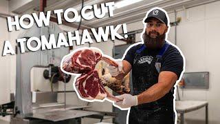 How to Cut Bęef Tomahawk Steak |