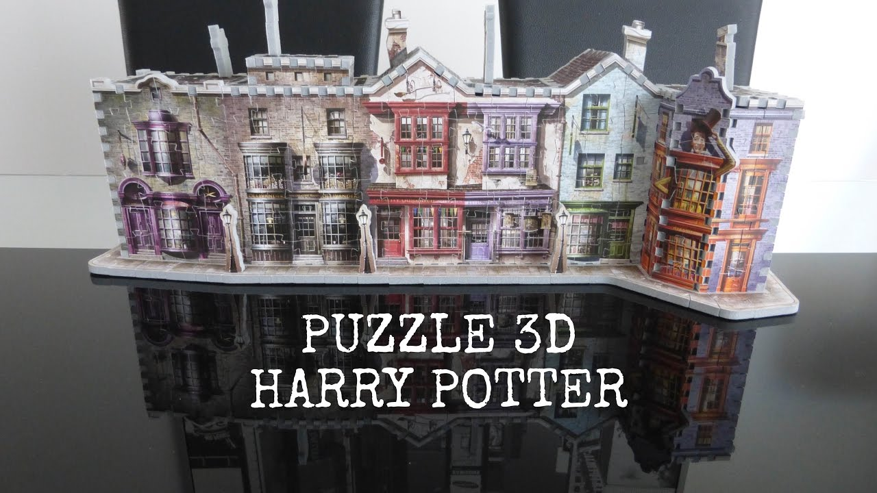 puzzle 3d harry potter wrebbit chemin de traverse youtube. Black Bedroom Furniture Sets. Home Design Ideas