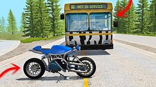 ACCIDENTES DE MOTO vs COCHES 💥 | BeamNG Drive Crash Compilation