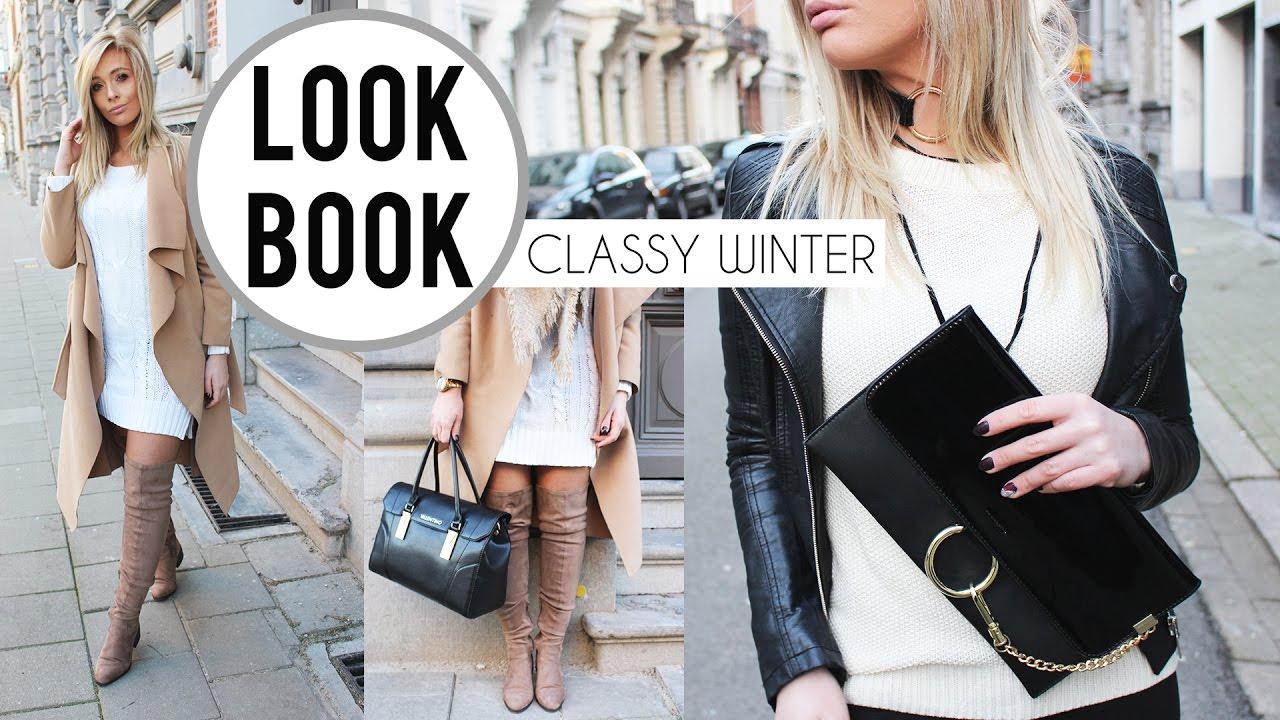 2 x CLASSY WINTER OUTFITS 2017 l Mini lookbook - YouTube