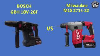 Bosch GBH 18V-26F vs Milwaukee M18