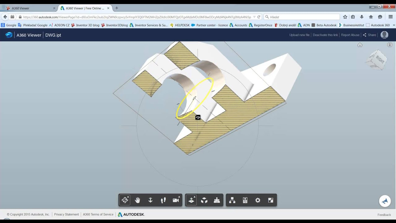 Autodesk A360 Viewer - Prohlížení a sdílení CAD modelů online