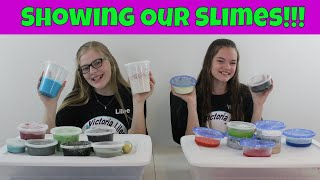 Showing Our Slime Collections 2018!  // Victoria_Lilee Vids
