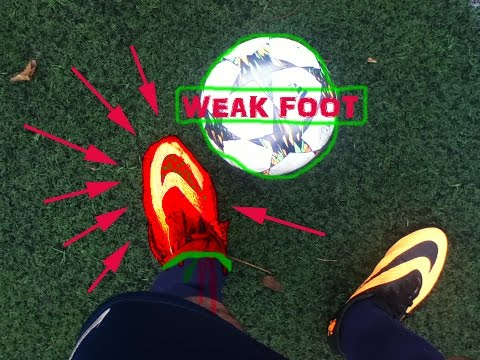 How to improve your weak foot tutorial, in shooting,dribbling and passing.
