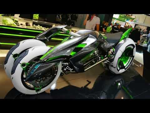 Kawasaki Concept J electric three wheeler | New 2018 Kawasaki Concept
