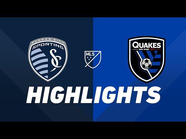 Sporting Kansas City vs. San Jose Earthquakes   HIGHLIGHTS - August 17, 2019