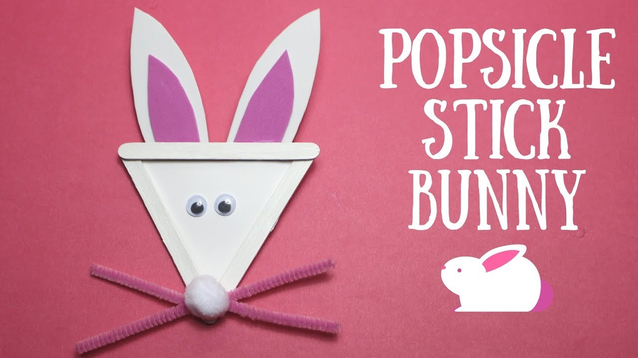 Popsicle Stick Bunny Easter Craft Ideas Youtube
