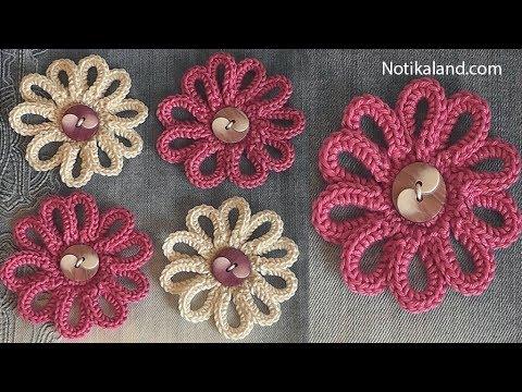 Diy Tutorial Very Easy How To Crochet Flower Flowers For Decor