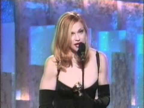 Madonna wins Golden Globe for Best Actress in Evita 1997